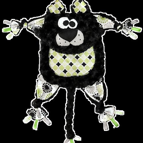 Fuzzy Black Kitty with Green Tummy (Kitty 8)