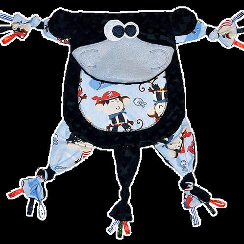Black Monkey with Pirate Tummy (Monkey 15)