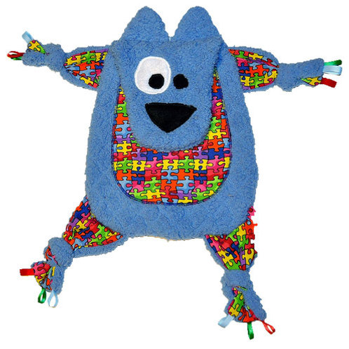 Blue Bear with Puzzle Tummy (Bear 2)