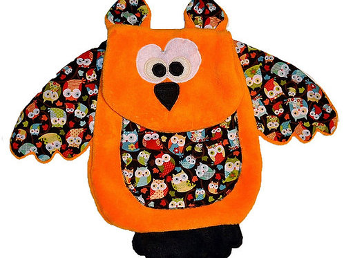 Orange Owl with Brown Tummy (Owl 8)