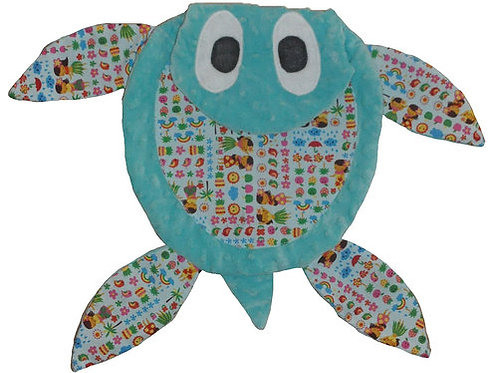 Teal Sea Turtle with Hawaiian Tummy (Turtle 3)