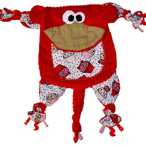 Red Monkey with Cupcake Tummy (Monkey 7)