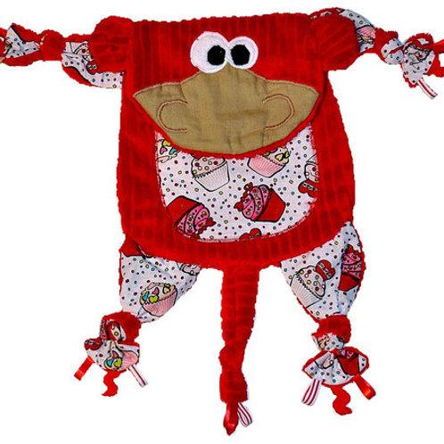 Red Monkey with Cupcake Tummy (Monkey 7)