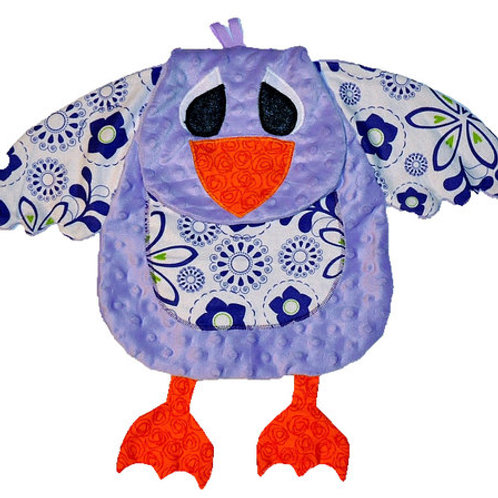 Purple Chickie with Floral Tummy (Chickie 1)