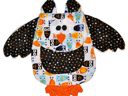 White Owl with Polka Dot Tummy (Owl 13)