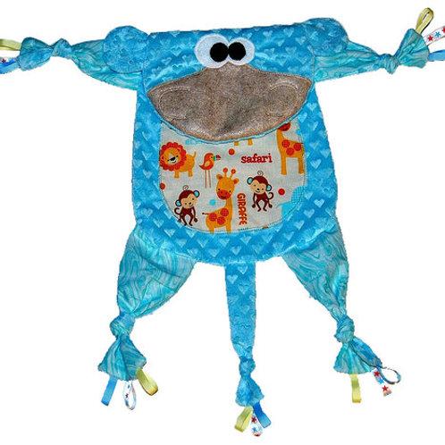 Light Blue Monkey with Safari Tummy (Monkey 10)