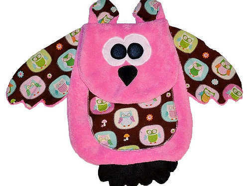 Pink Owl with Owl Character Tummy (Owl 11)