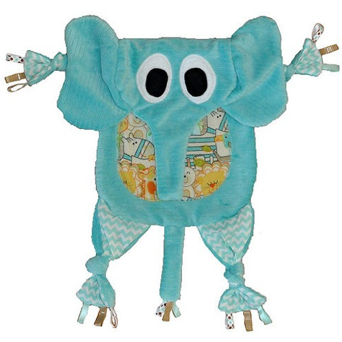 Teal Elephant with Jungle Critter Tummy (Elephant 4)