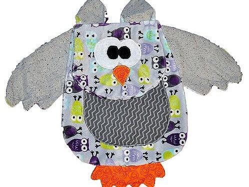 Lavender  Owl with Chevron Tummy (Owl 6)
