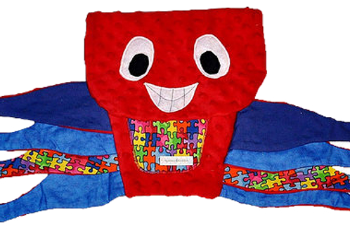 Red Octopus with Puzzle Tummy (Octopus 1)