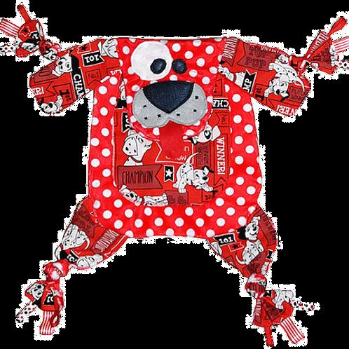 Red Polka Dot Puppy with Dalmatian Tummy (Puppy 19)