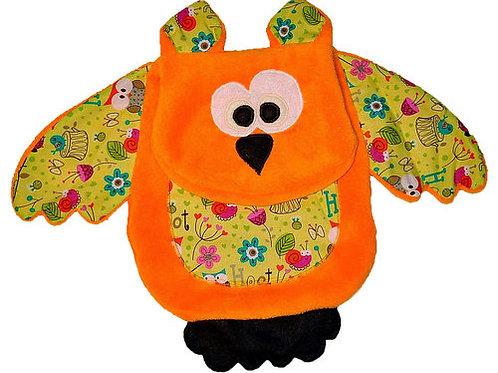 Orange Owl with Floral Tummy (Owl 9)