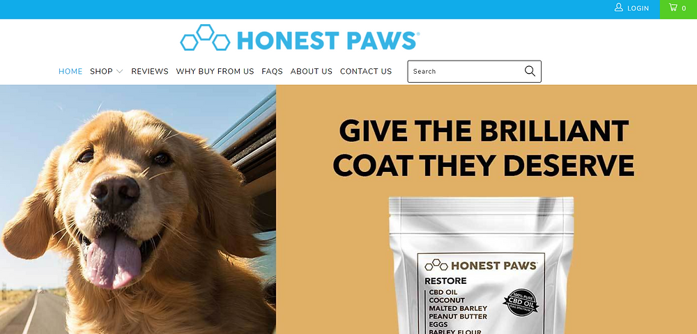 CBD for dogs and cats - honest paws