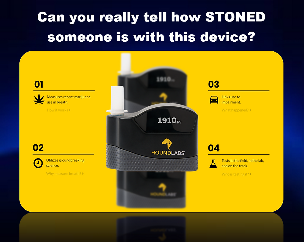 The Hound Marijuana Breathalyzer