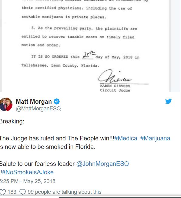 florida allowed to smoke marijuana