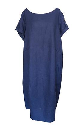Kerrie's Linen Dress - Navy