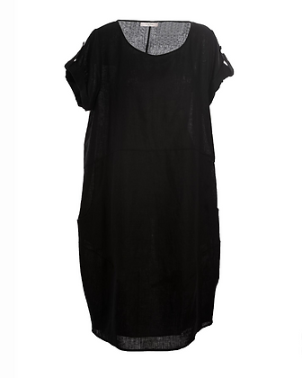 Kerrie's Linen Dress - Black