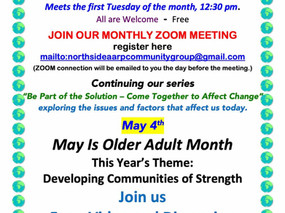 May is Older Adult Month! Check out our local AARP Chapter monthly meetings!
