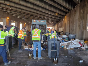 32nd Ward Clean-Up Under the Fullerton/Kennedy Viaduct