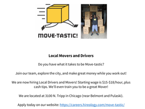 Now Hiring Local Movers and Drivers