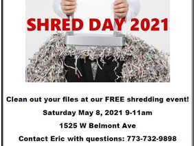 FREE Shredding Event on May 8th
