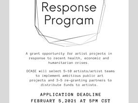 Applications Open for Artist Response Program
