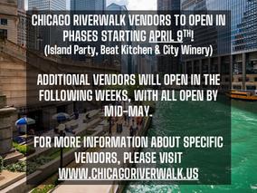 Chicago Riverwalk Vendors Opening in Phases Starting April 9