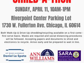 SHRED-A-THON: Sunday, April 11, 10am-1pm