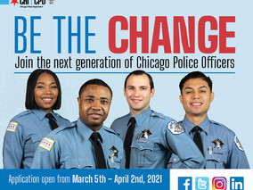 Be the Change - CPD Now Accepting Applications