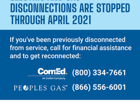 Electric and Gas Disconnections Are Stopped Through April 2021