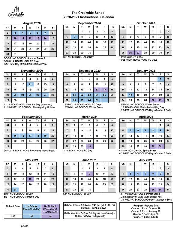 2020-2021 Instructional Calendar_2020_07