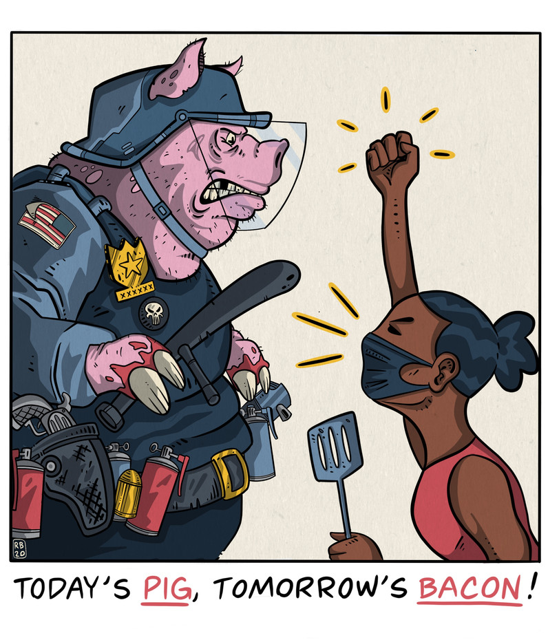 This Little Piggy Went To The Protest