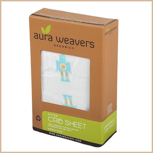 Crib Sheet - Organic - Boy - Robots