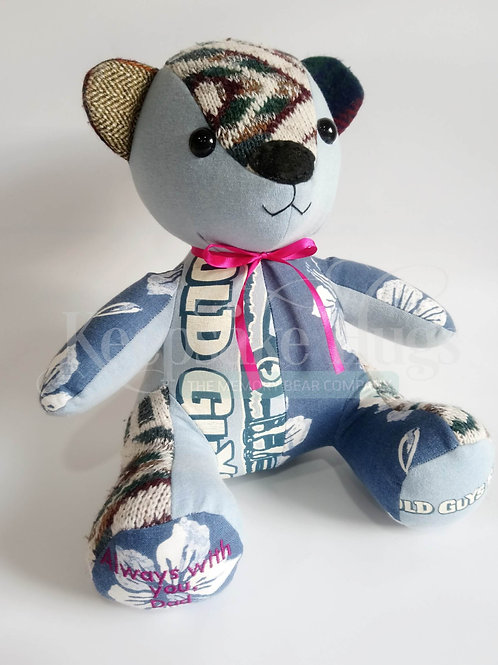 Memory bear made from adult clothing