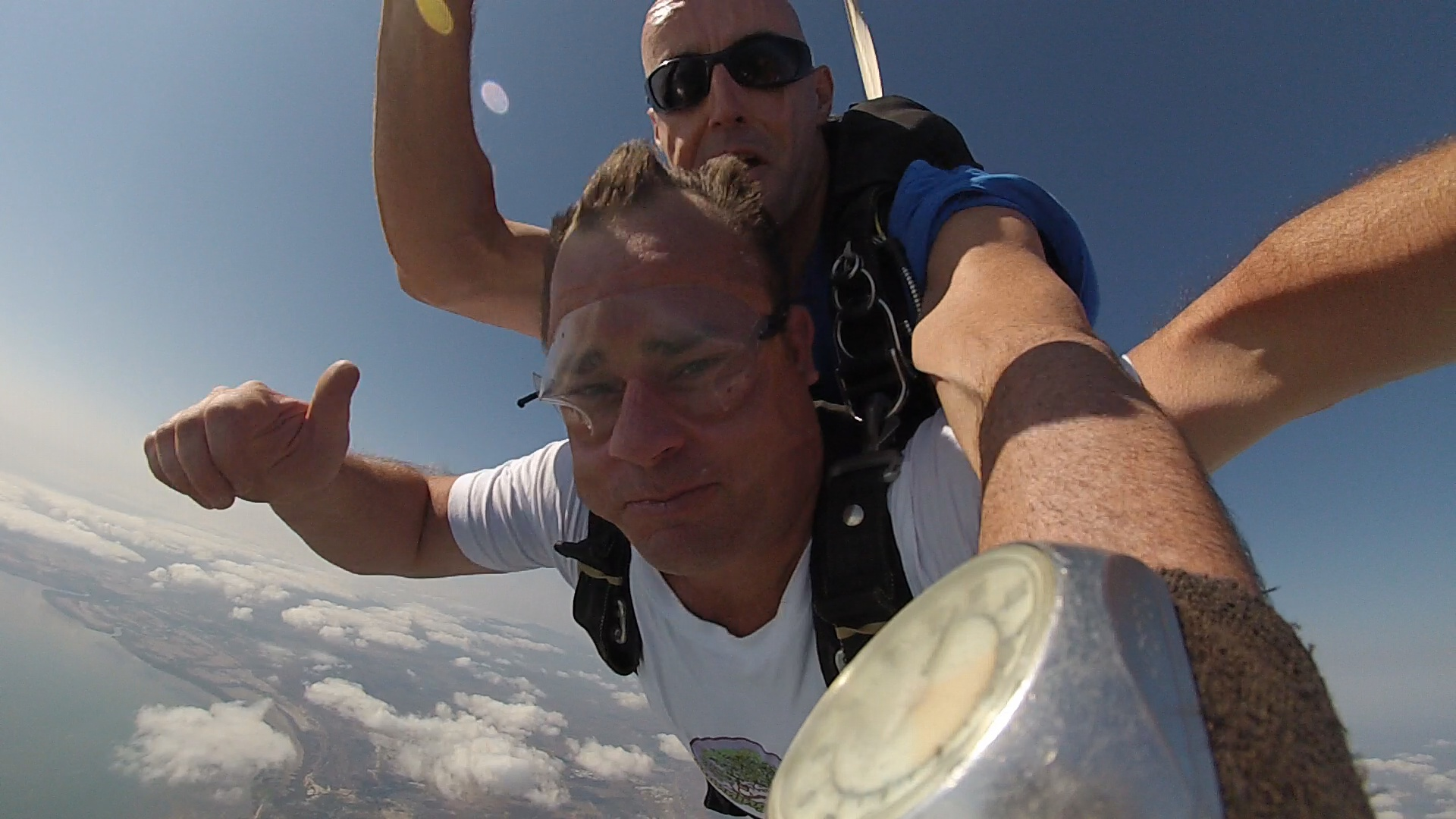 Peter Travers skydiving