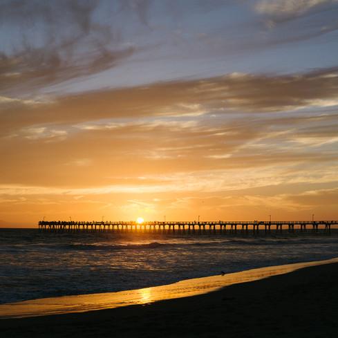 Hueneme Bay Pier Sunset