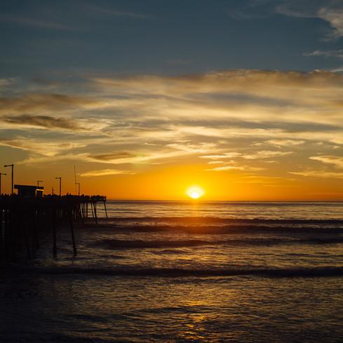 Pismo Beach Pier Valentines Sunset