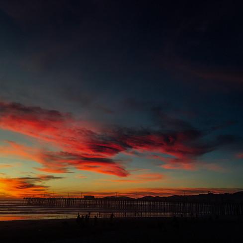 Pismo Beach Valentines sunset