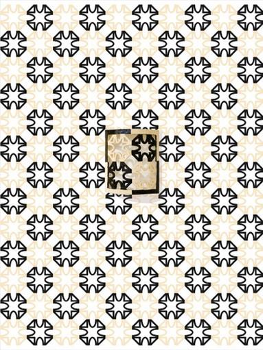 Tappezzeria #03, 2017, Ceramica su carta