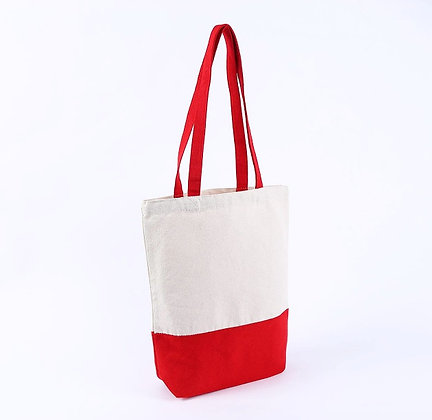 Personalized Red Canvas Tote Bag