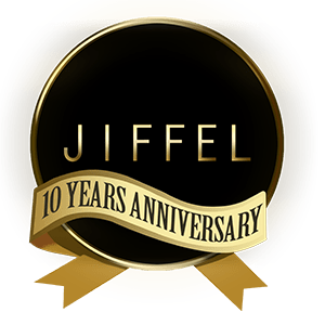 Jiffel 10 Year Anniversary Logo