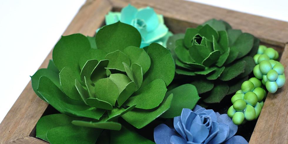 Create a Paper Succulent Wall Garden