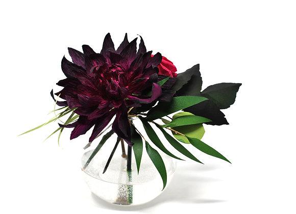 Garnet Chrysanthemum + Mini Hot Pink Rose Garden Mix
