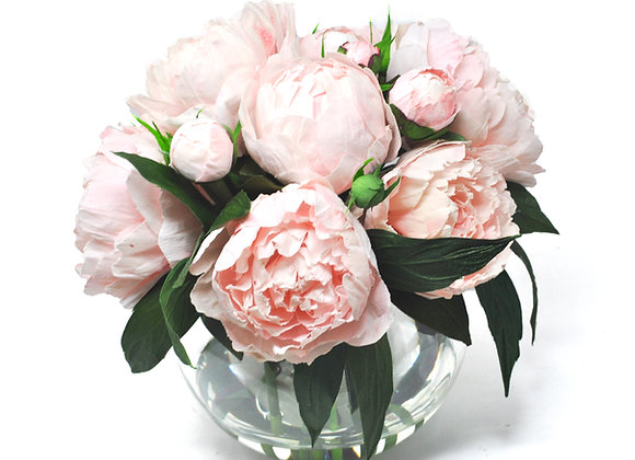 Blooming Pink Peony Centerpiece