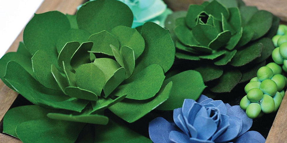 Learn how to Create a Paper Succulent Garden