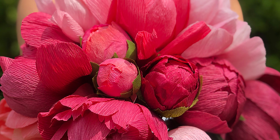 Make a Paper Peony | Never-ending Summer Event