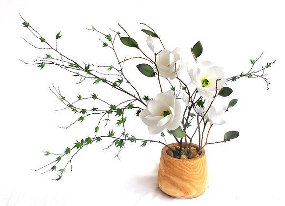 Magnolia + Maple Ikebana Display