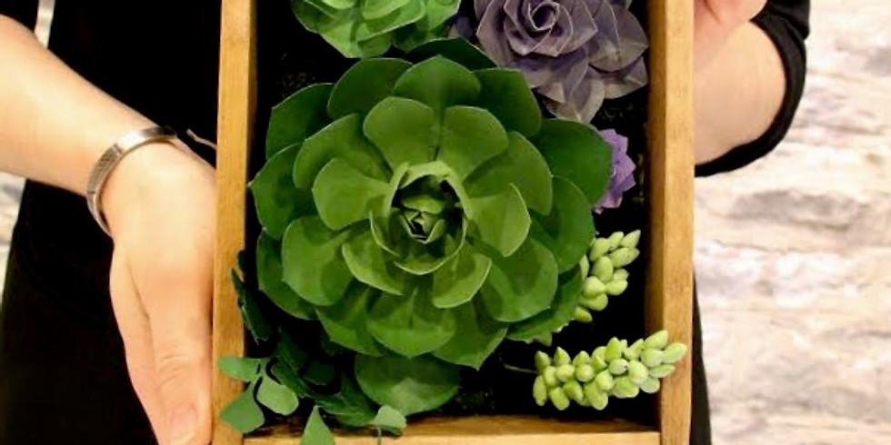 Paper Succulents + Wine