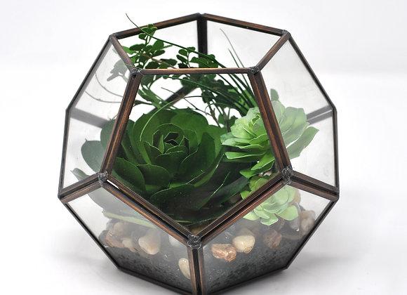 Geometric 'Open Top' Terrarium   Greenery Collection