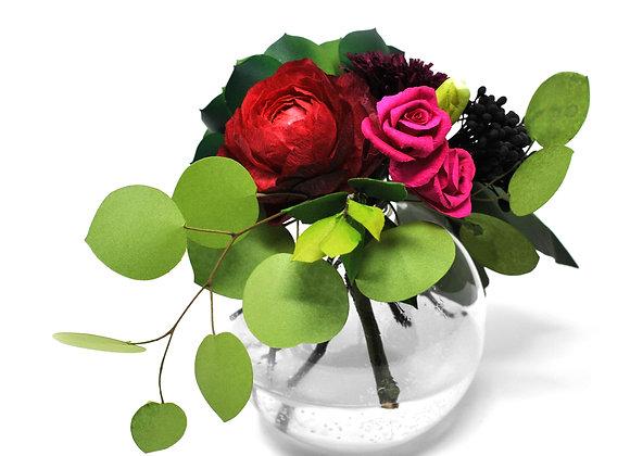 Charming Ruby Ranunculus + Green Succulent Garden Blooms